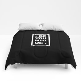 YOU AND YOURSELF (BLK) Comforters