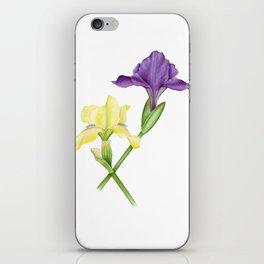 Watercolor irises iPhone Skin