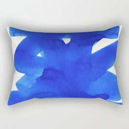 Superwatercolor Blue Rectangular Pillow