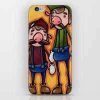 mario bros iPhone & iPod Skins featuring Super Mario Bros. by epicdinosaurs