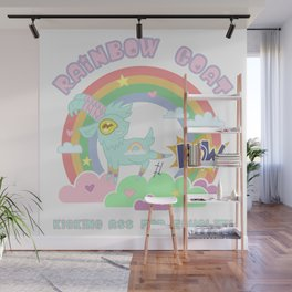 POW! Rainbow Goat Kicking Ass for Equality Wall Mural