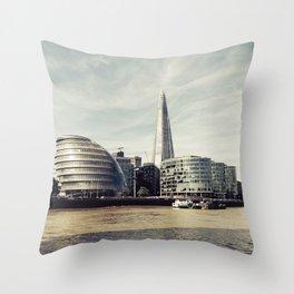 London city view Throw Pillow