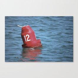 Buoy 12 south Canvas Print
