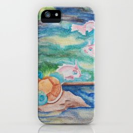 Pond With Squirtle And Goldeen iPhone Case