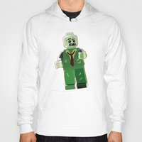 zombie Hoodies featuring Zombie by Emma Harckham