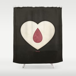 Bram Stoker's Dracula - Minimalist literary design, literary gift, bookish gift, illustration wall a Shower Curtain