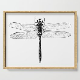 Vintage Dragonfly | Black and White | Serving Tray