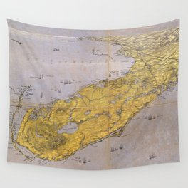 Vintage Pictorial Map of Florida (1861) Wall Tapestry