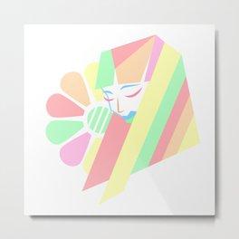 Pastel Melancholy in Spring Metal Print