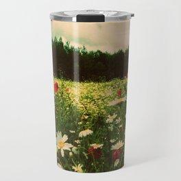 Poppies in Pilling Travel Mug
