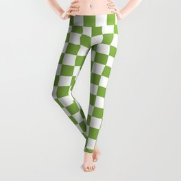 Color of the year 2017  Greenery   Checkerboard Leggings