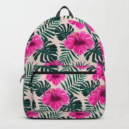 Tropical Hibiscus Flower Pattern Gift Backpack