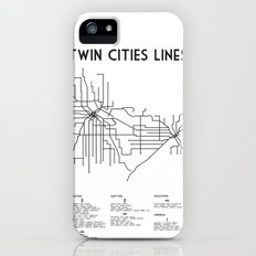 Twin Cities Lines Map Slim Case iPhone (5, 5s)