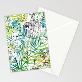 Endangered in the Rainforest Stationery Cards