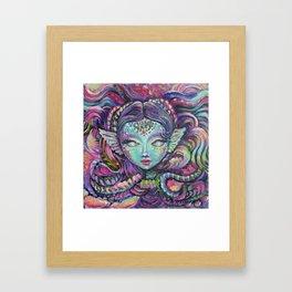 Indigo Mermaid Explore - Kids, fantasy, mermaids by Lana Chromium Framed Art Print