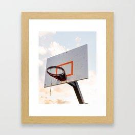 basketball hoop 4 Framed Art Print