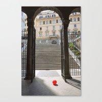 ballon Canvas Prints featuring Red Ballon by Danielle W