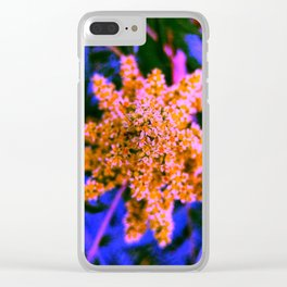 Yellow, Pink, and Blue Sumac Bloom Clear iPhone Case