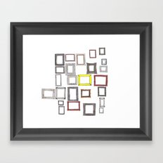 Art, Art Everywhere, but Not A Frame To Fill. Framed Art Print