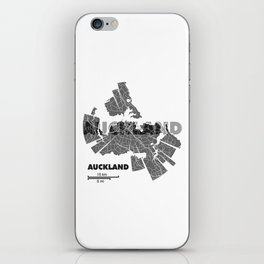 Auckland Map iPhone Skin