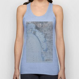 Vintage Map of San Diego California (1902) Unisex Tank Top