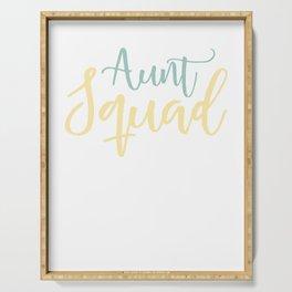 Aunt Squad - FunnyDesign for Aunts Serving Tray