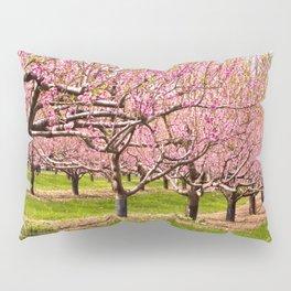 Pink Flowering Trees Pillow Sham