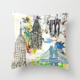 New York City Buildings Throw Pillow
