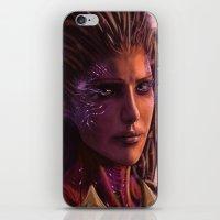 starcraft iPhone & iPod Skins featuring Sarah Kerrigan  by p1xer