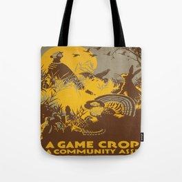 Vintage poster - Game Crop Tote Bag