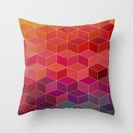 geometric pattern with geometric shapes, rhombus Throw Pillow
