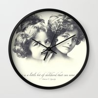 sisters Wall Clocks featuring Sisters by Carol Knudsen Photographic Artist