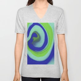 Green blue abstract pattern Unisex V-Neck