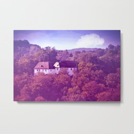 The castle behind the seven hills Metal Print