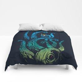 Undersea attack (neon ver.) Comforters