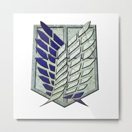 attack on titan logo Metal Print