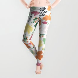 Autumn Leaves Pattern Leggings