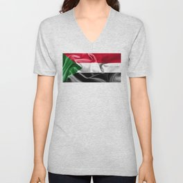 Sudan Flag Unisex V-Neck