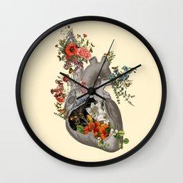 Nature's Heart Wall Clock