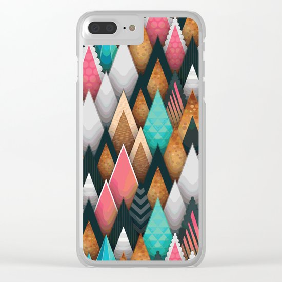 Triangle pattern #society6 Clear iPhone Case