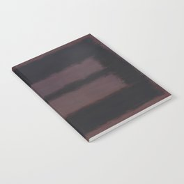 Black on Maroon 1958 by Mark Rothko Notebook