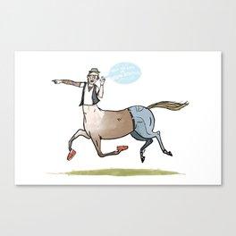 the Hipster Centaur Canvas Print