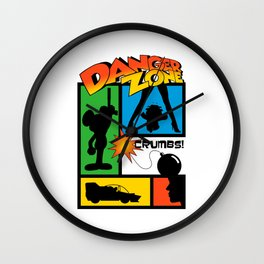 Wherever There Is Danger Wall Clock
