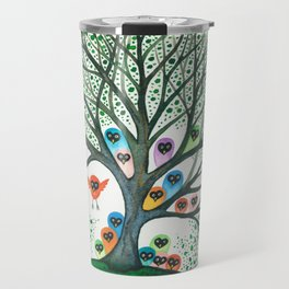 Teton Owls in Tree Travel Mug