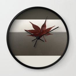Last Leaf of Autumn Wall Clock