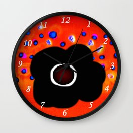 Hole and black flower Wall Clock