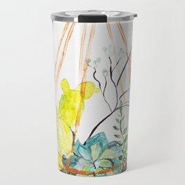 Terrarium Botanical, plants Illustration, Home Decor Travel Mug