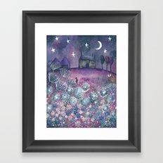 Watching the Stars Framed Art Print
