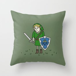 Sad Link in a Field Throw Pillow