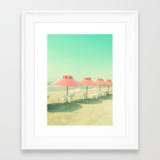 Pink Row I Framed Art Print